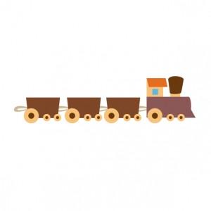 つみ木の電車