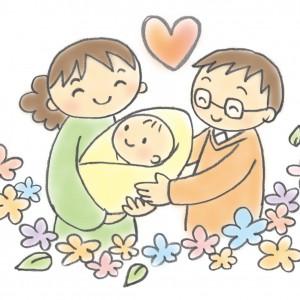 赤ちゃんとパパママ
